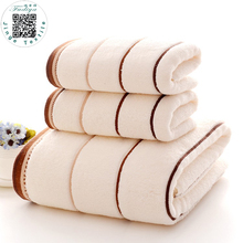 3pcs/set High Quanlity Cotton Towel Set --2pcs 34*74cm Face Towels 1pc 70x140cm Bath Towels Toalhas Solid face care breathable