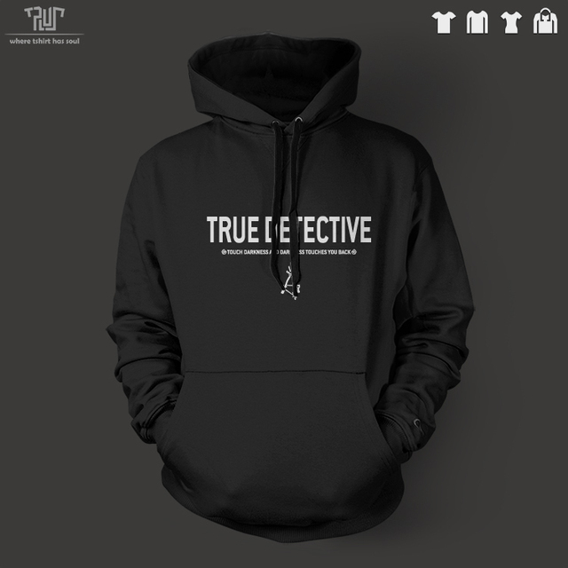 TRUE DETECTIVE logo design men unisex pullover hoodie heavy hooded  sweatshirt 100% organic cotton fleece