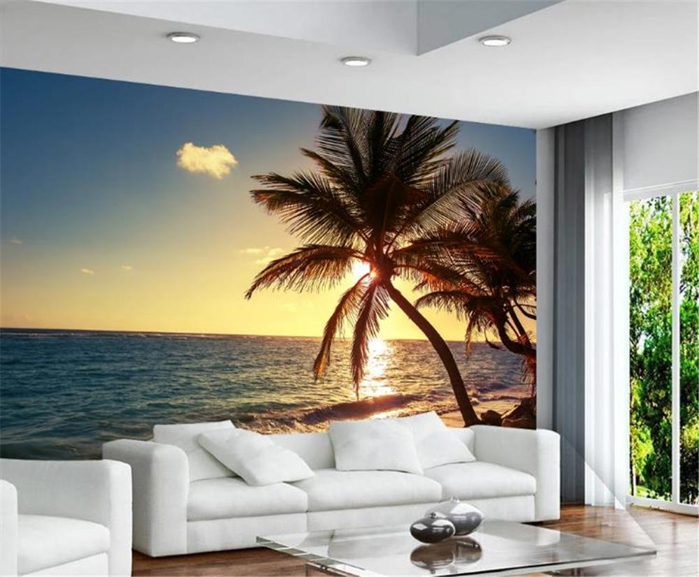 Big Promotion For Wallpaper Sea Sunrise Sunset Seaside Coco Island Landscape Background Wall Painting Wall Paper
