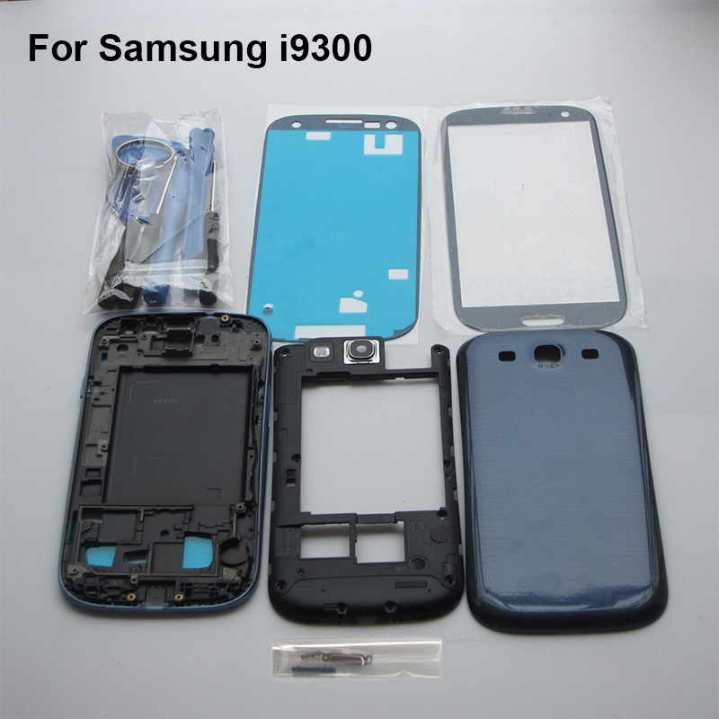 Blue Complete Full Housing Case for Samsung Galaxy S3 SIII I9300 middle frame battery door cover