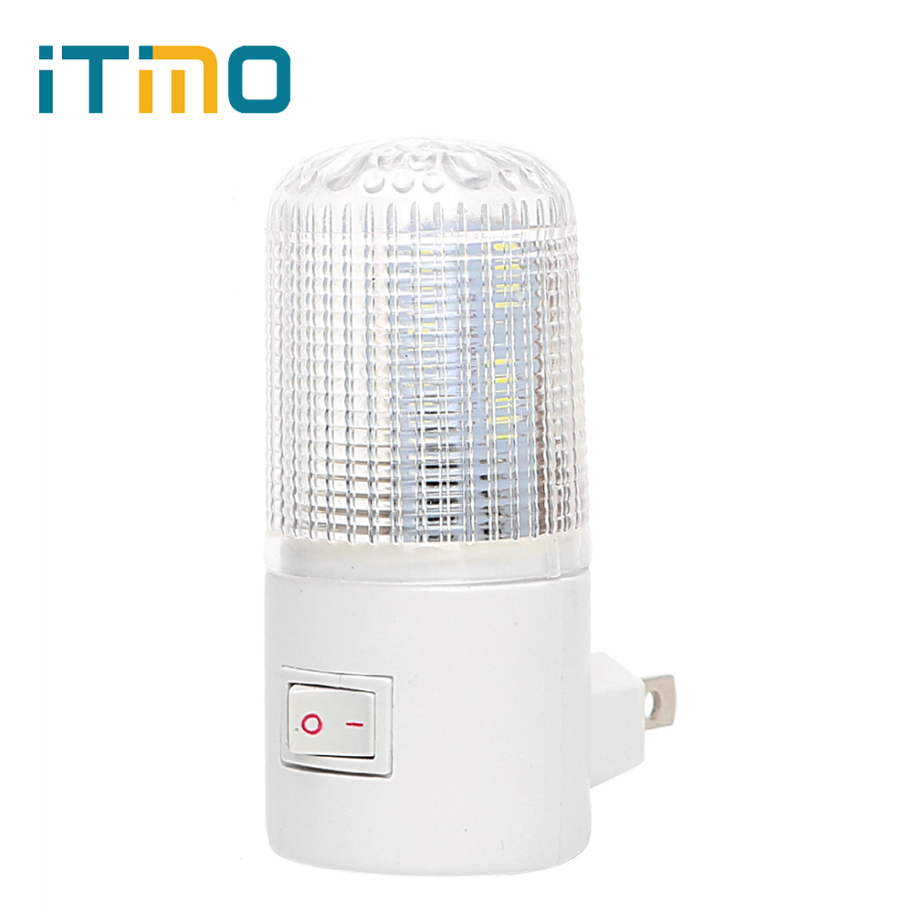 iTimo US Plug LED Night Light Wall Mounted Home Lighting 4 LEDs Energy-efficient Emergency Light 3W Bedside Lamp Wall Lamp