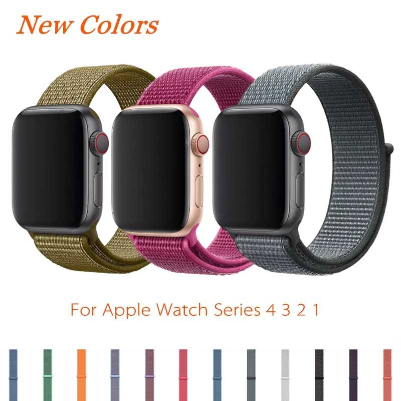 Sport Loop Strap For Apple Watch Band 4 44mm 42mm 3 2 1 iWatch Band 40mm 38mm Correa Nylon Wrist Bracelet Watch Accessories