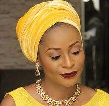 Women Headwear Velvet Headwrap African Head