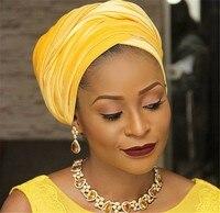 Cukierkowe Kolory Kobiety Nakrycia Głowy Aksamit Afryki Szef wrap Headwrap Tie Bandaża Hidżab Szalik Chustka Turban Twist Pasmo Włosów Akcesoria