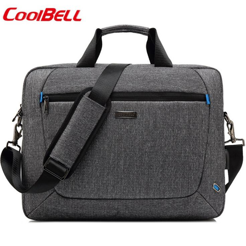 Laptop Bag 15.6 Inch Notebook Bags Shoulder Messenger Nylon Airbag Men Computer Bags Fashion Handbags Women Briefcase Y663-in Top-Handle Bags from Luggage & Bags    1