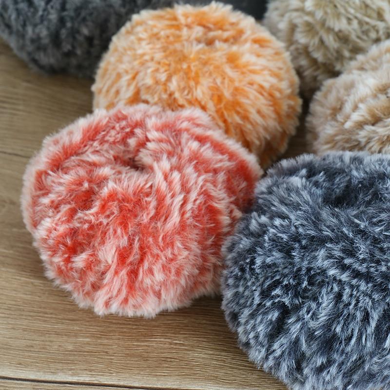 1000 G lot 50g ball Warm Faux Mink Fur Yarn Soft Long Plush Thick Yarn for