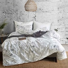 White Leaves Bedding Set 3D Duvet Cover Comforter Bedding Sets Queen King Twin Size Romantic Bed Set Cover Luxury Home Textile