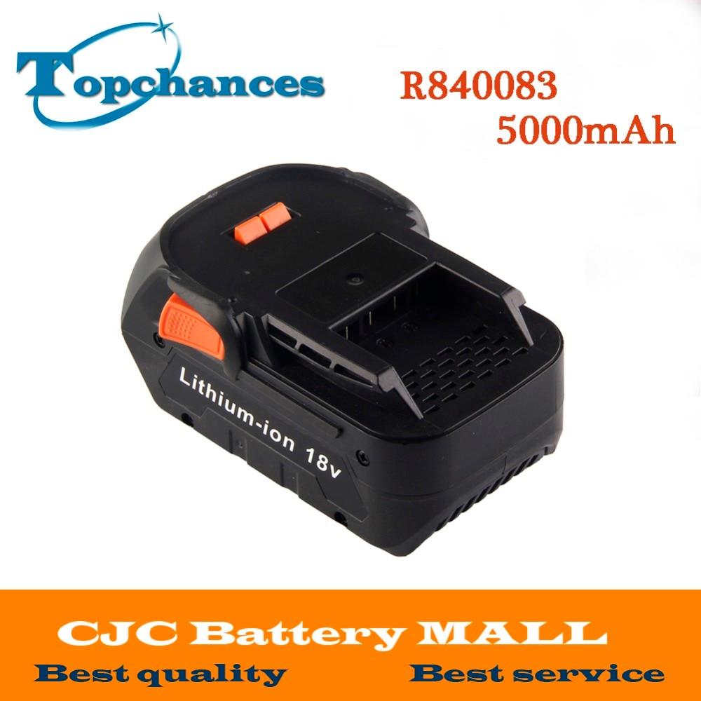High Quality Newest 18V 5000mAh Li ion battery for RIDGID R840083 CS0921 R84008 AC840084 L1830R For