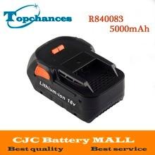 Высокое качество Новые 18 В 5000 мАч литий-ионный аккумулятор для ridgid R840083 CS0921 R84008 AC840084 L1830R для серии aeg Батарея