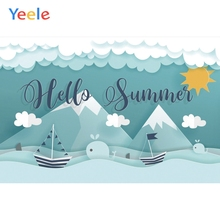 Yeele Summer Party Photocall Room Paper-cut Painting Photography Backdrop Personalized Photographic Background For Photo Studio