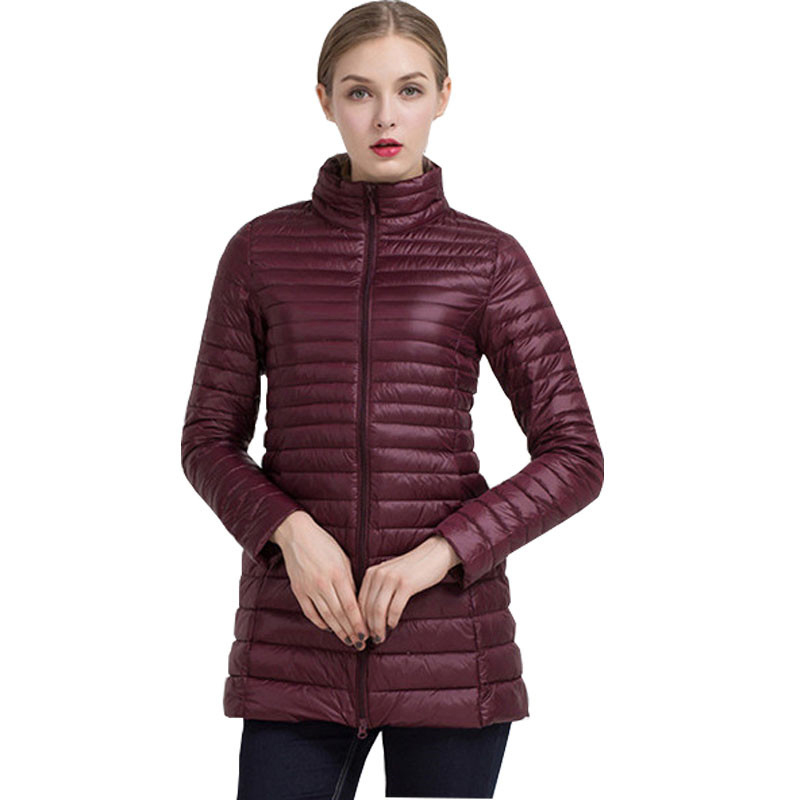 2018 New 90% White Duck   Down     Coat   Ultra Light Slim Long   Down   Jacket Portable Women Winter   Coat   Plus Size Chaquetas Mujer