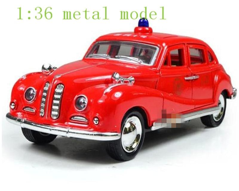 Classic Cars Model Alloy Police Car Children Gift Kid Toys