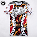 Poker T-shirt 2017 New and Hot Sale Brand Mens shirt 3D Printed Playing cards hip hop t shirts Short Sleeve Camisetas t shirt