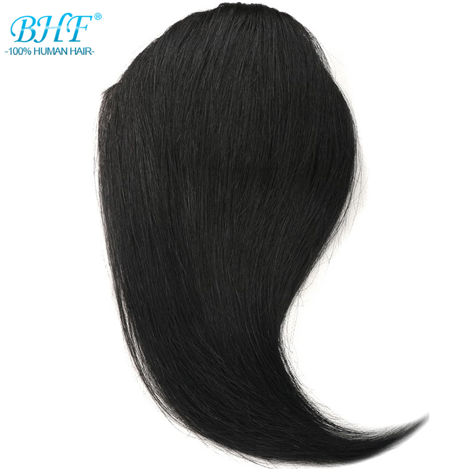 BHF Human Hair Bangs 8inch To 12inch Straight Long Russia Remy 3 Clip In Hair Fringe 100% Natural Human Hair