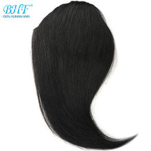 BHF Human Hair Bangs 8inch to 12inch straight long Russia Remy 3 Clip In Hair Fringe 100% Natural Human Hair(China)