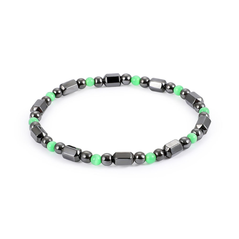 Magnetic Bracelet Bangle Acrylic Hematite Stone Therapy Health Care Jewelry Gift