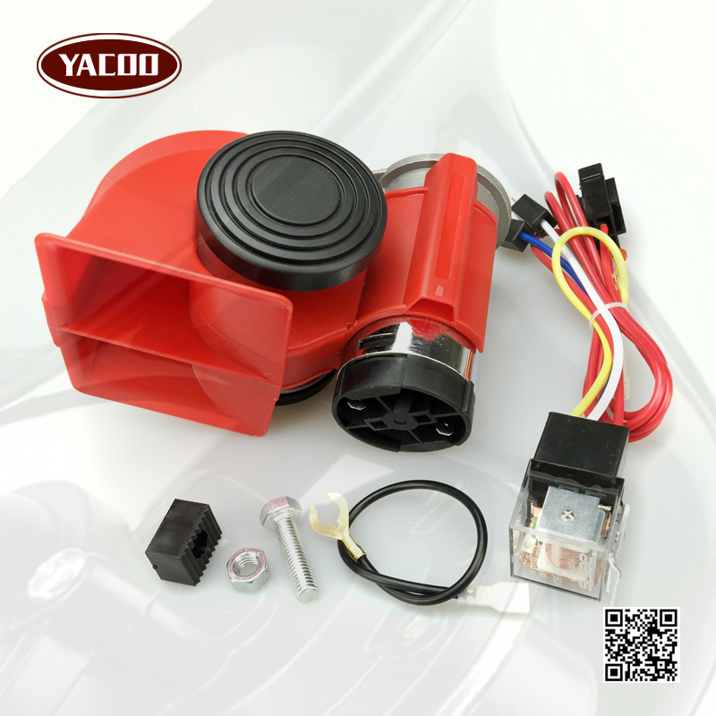 12V 140db Air Horn Snail Compact For Car Truck Van Vehicle Motorcycle Boat Bike New