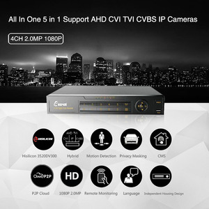 Image 2 - KEEPER 4 Channel 1080P AHD Full HD 5 in 1 Hybrid DVR Surveillance Video Recorder Support TVI CVI AHD CVBS IP Camera 4