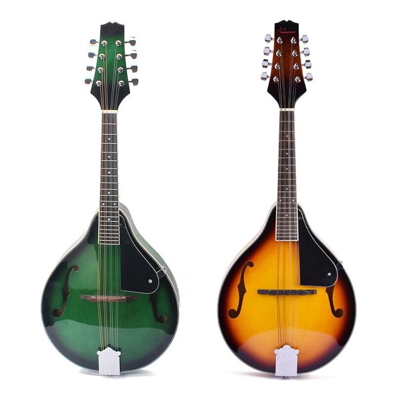 Mandoline en tilleul à 8 cordes pont réglable avec ficelle en acier palissandre mandoline contrôle du Volume Instrument de musique à cordes