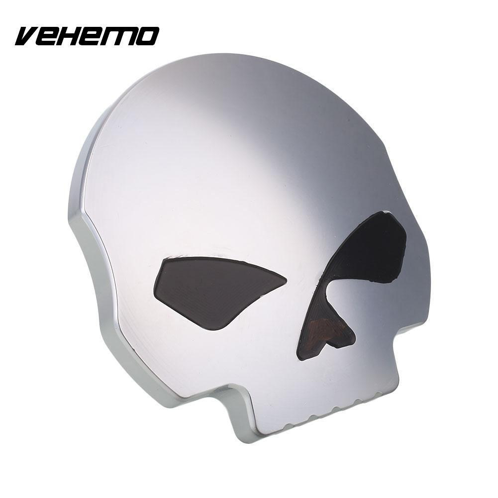 Vehemo Skull Motorcycle Gas Fuel Tank Cover for Harley Sportster Aluminum Alloy high quality motorcycle parts aluminum alloy gas fuel petrol tank cap cover fuel cap for honda cbr 929 954 rc51 all years