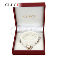 Flor pulseira de pérolas encantos da forma 925 prata esterlina, tamanho ajustado pulseira na caixa de presente agradável