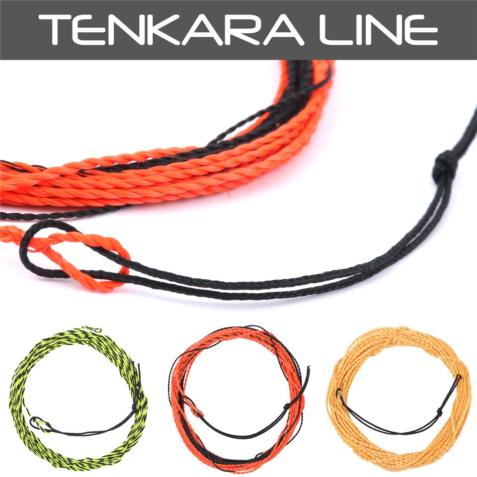 Maxcatch New Tenkara Fly Line- ը հյուսված թռիչք գիծ 11-13FT 17LB Tenkara Line Fly Fishing Line Furld Leader