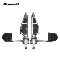 KOWELL 1Pair 1.25inch 32mm Adjustable Mount Foot Heel Pegs Pedals For Harley Davidson Dyna Sportster MotoBike Left & Right Pedal