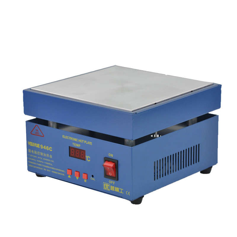946C Electronic Hot Plate Preheat LCD Digital Display Preheating Station for PCB SMD heating phone LCD
