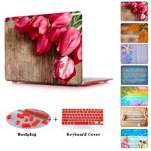 Sea Flowers leaves lifebuoy shell stars for MacBook Air 13 printed Case Air 11 12 Hard Cover for Macbook Pro Retina 13 15 Cases