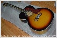 China gitarre Gute Günstige Preis Akustische gitarre mit pickup 3 Tone Sunburst Chinese Guitars Musik Instrument versandkostenfrei