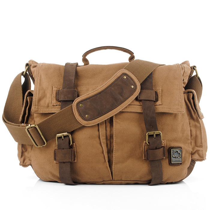 vintage fashion unisex canvas messenger bag book laptop school shoulder bags ladies women crossbody bags handbag men travel bag Fashion Unisex Messenger Bags Single Canvas Shoulder Bag Men Women Canvas Fashion Vintage String Messenger Bag Casual Travel