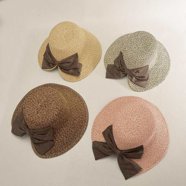 0a8d5e0817a placeholder COKK Women s Sun Hat Big Bow Wide Brim Floppy Summer Hats For Women  Beach Panama Straw