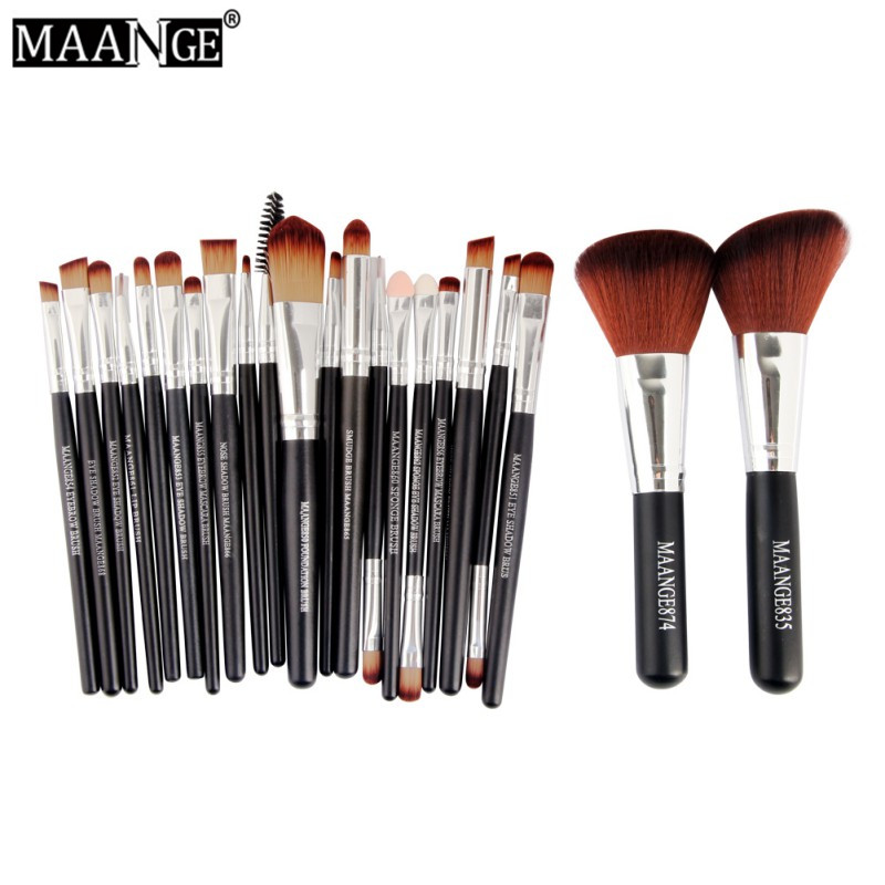 MAANGE New Arrival Professional 22pcs Cosmetic Makeup Brush Set Blusher Eyeshadow Powder Foundation Eyebrow Lip Make up Brush M3 7 pcs make up brushes for make up professional eye shadow foundation eyebrow lip makeup brush suit make up tools