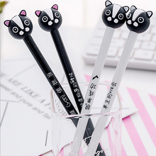 2 pcs/lot Cute cartoon dog Gel Pen kawaii stationery School Supplies Office writting pens paperlaria