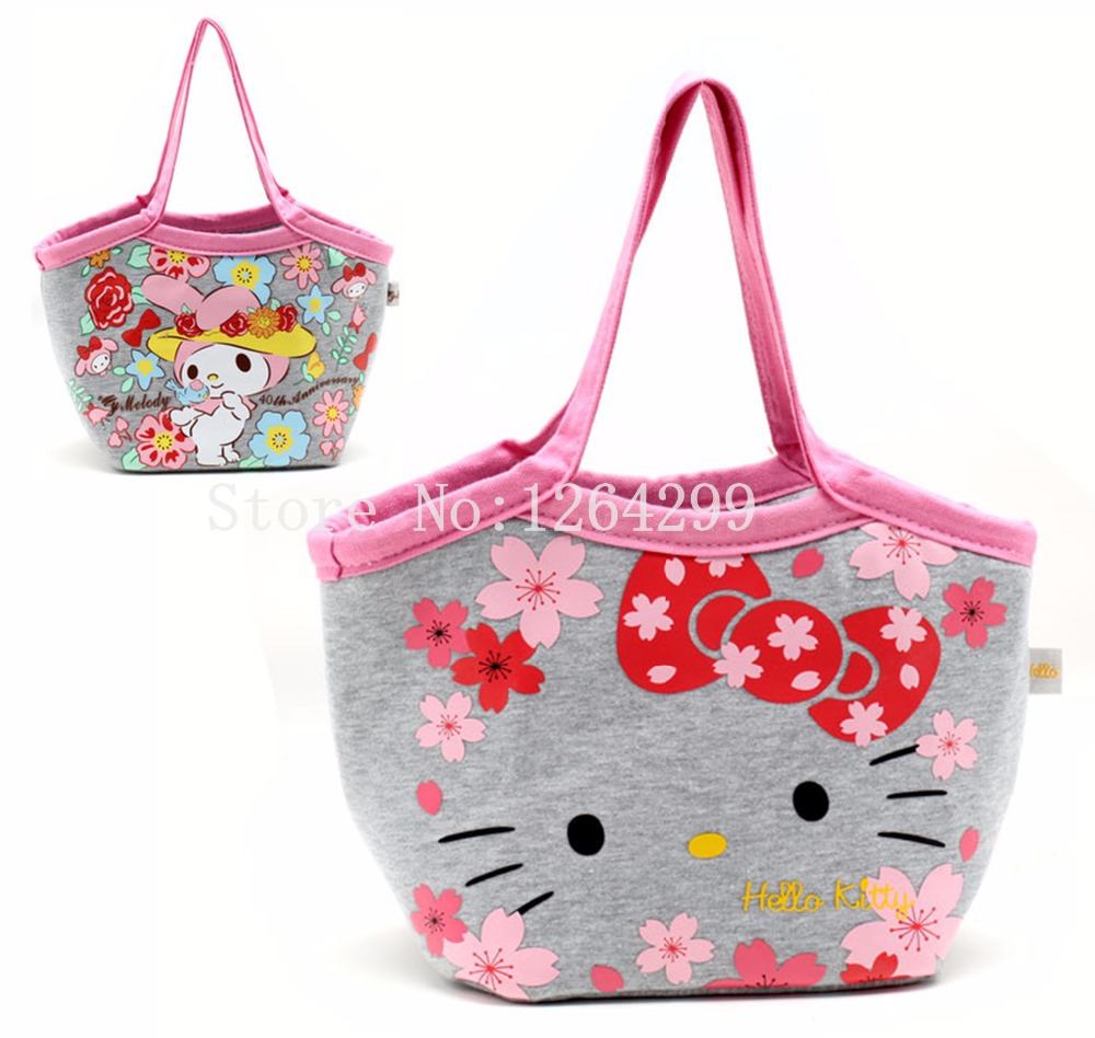 07fd369b4 Detail Feedback Questions about Fashion Hello Kitty My Melody Girls Woman  Cotton Aluminum foil Theraml Lunch Cooler Bags Kids Shoulder Bag Handbags  For ...