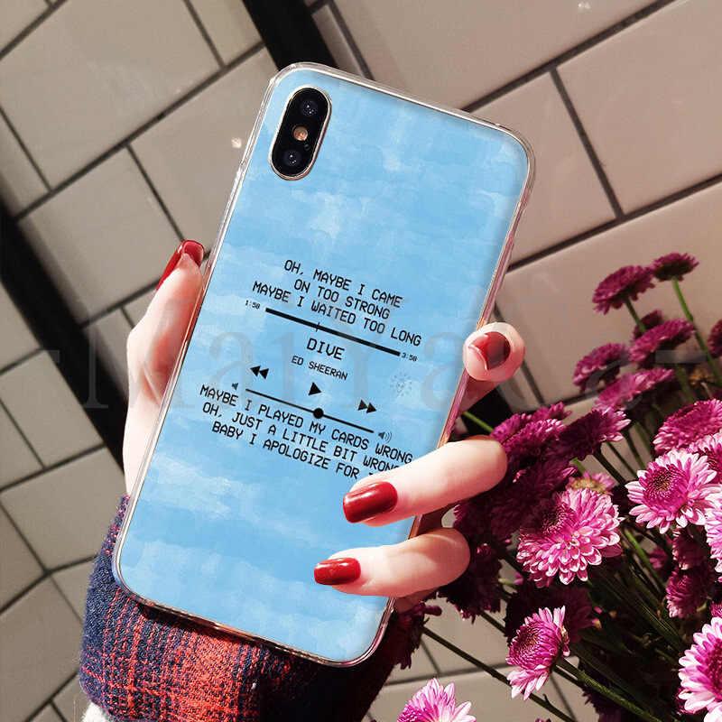 MaiYaCa إد شيران كلمات الصور رسمت غطاء ملون نمط جراب مصمم للهاتف المحمول ل فون 8 7 6 6 ثانية زائد X XS ماكس 5 5 ثانية SE XR