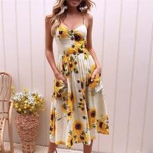 Plus Size Casual Maxi Summer Dress Sexy Spaghetti Strap V-Neck Pocket Single-breasted Long Women Party Dress Beach Robe Vestidos цена 2017