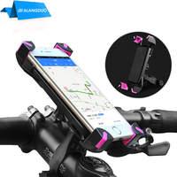 ALANGDUO Phone Holder Universal Bicycle Bike Handlebar Clip Stand Mount Bracket For iPhone 3.5-6.5 inch Phones Holder 360 Rotate