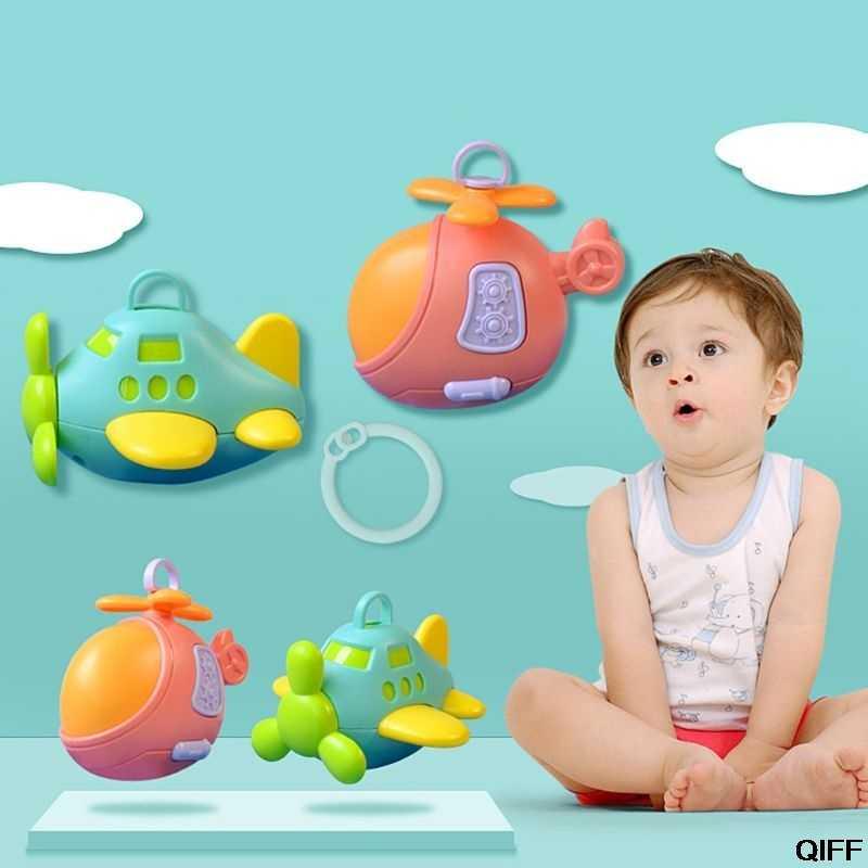 Высокое качество Детские игрушки самолет колокольчики погремушки Прорезыватель детская кровать коляска подвесная малыш новорожденный подарок May06