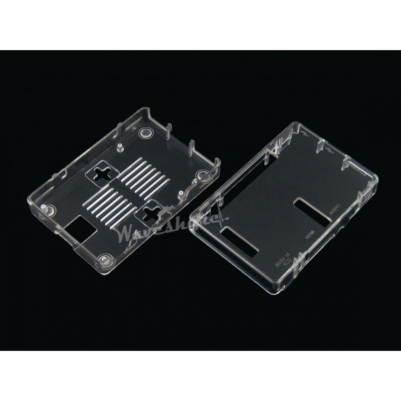 module Waveshare Raspberry Pi Clear Case/Cover/Box Type G for Raspberry Pi Model B Plus RPi 2 B RPi 3 Model B Easy to Install