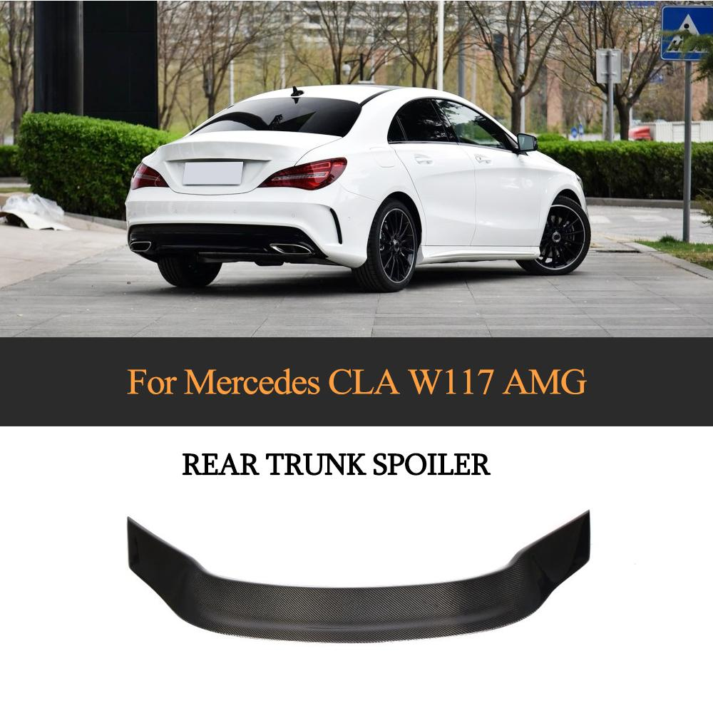 Car Rear Spoiler for Mercedes Benz CLA Class W117 CLA180 200 250 CLA45 AMG 2013 2019 R Style Carbon Fiber Rear Trunk Wing