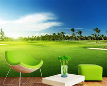 beibehang  papel parede Fashion golf field meadow landscape photo wallpaper background wall painting wallpapers for living room beibehang papel de parede mediterranean sea garden landscape painting background wall wallpaper wallpapers for living room