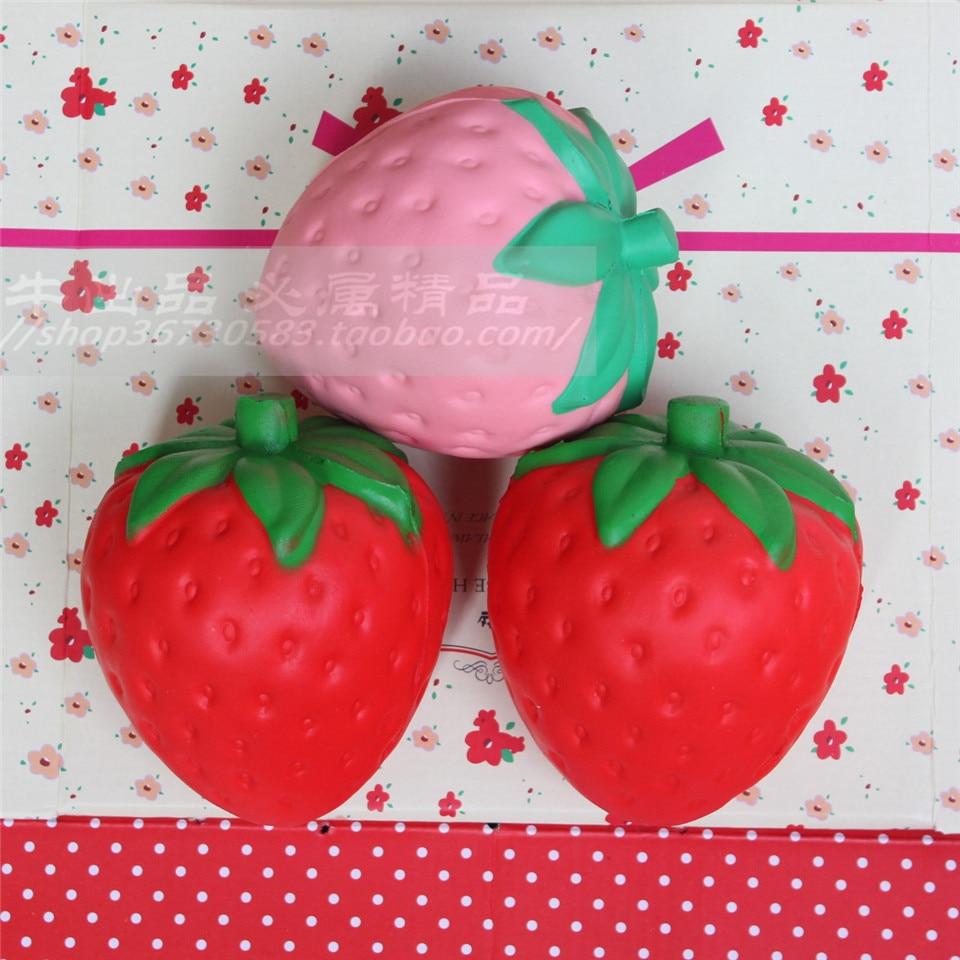?wholesale 10pcs/lot 11cm ? ? big big strawberry squishy jumbo simulation Fruit kawaii ?(^ ^)? ...