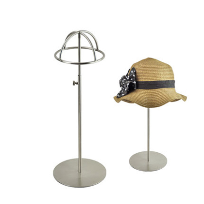 Free shipping Metal Hat display hat stand Gold hat display rack stainless steel hat holder cap display HH014-Matte Silver free shipping metal gold hat display stand polished gold cap display racks