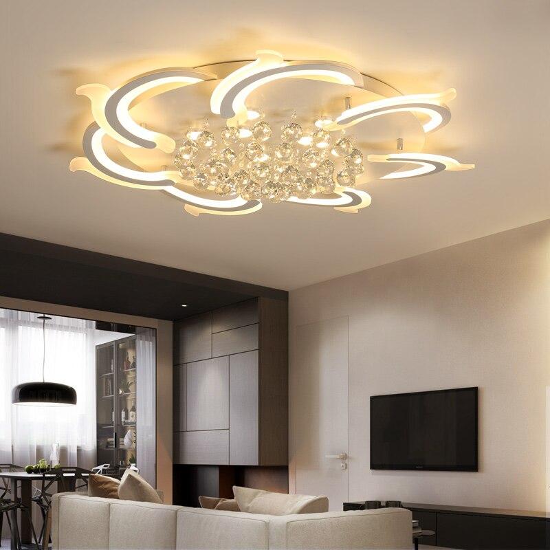 Modern Led Ceiling Lights For Living Room Bedroom Study Room Crystal lustre plafonnier Home Deco Ceiling Lamp avize цена 2017