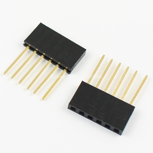 20 Pcs Per Lot 2.54mm Pitch 6 Pin Single Row Stackable Shield Female Header for Arduino