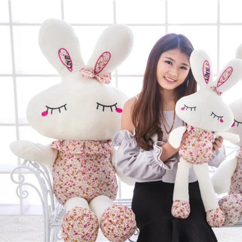 1 Pc 40 Cm Kawaii Kaninchen Plüsch Spielzeug Schöne Gebrochen Blumen Kuscheltiere Geburtstag Hochzeit Geschenk Für Mädchen Baby