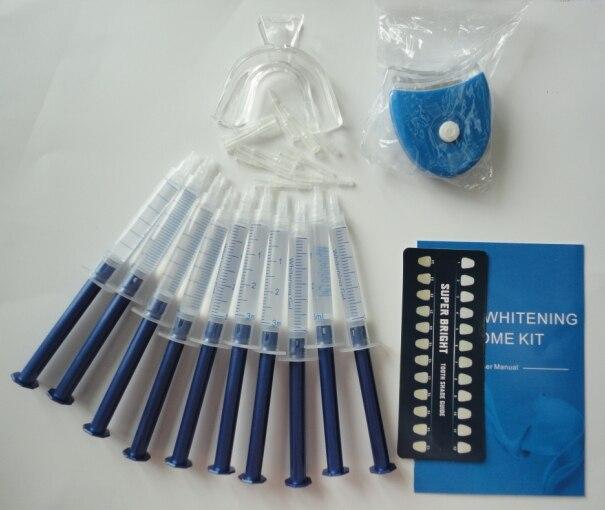 Free shipping!!! with led lights teeth whitening kit dental whitening gel kit clareador dental(China)