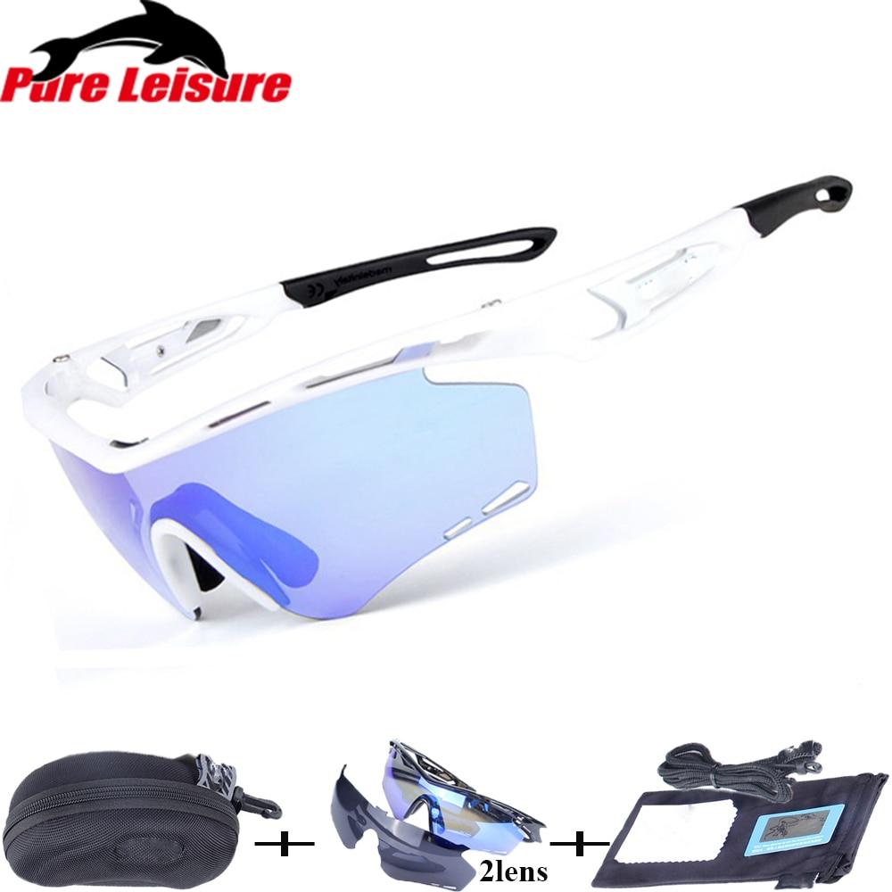 PureLeisure 1Set 2 Lens Fishing Eyewear Outdoor Safety Sport Polarized Sunglasses Fishing Bicycle Hiking Cycling Glasses