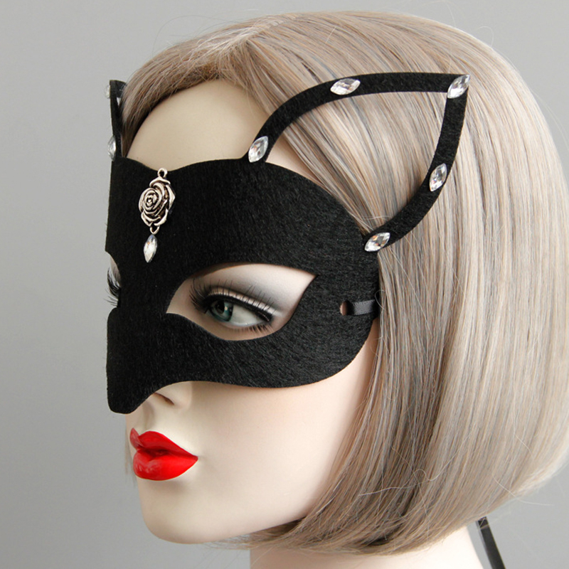 Holloween <font><b>Mask</b></font> Girls Women <font><b>Sexy</b></font> <font><b>Mask</b></font> Catwoman Masquerade Dancing Party Eye <font><b>Mask</b></font> Cat <font><b>Halloween</b></font> Fancy Dress Costume image